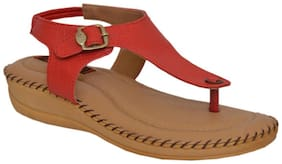 DR SOLE SANDALS FOR WOMEN -RED