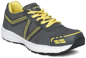 Duke Men D.Grey And Yellow Sports Shoes