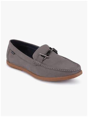 Men Grey Loafers ,Pack Of 1 Pair