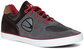 Duke Men Grey;Black And Red Casual Shoes