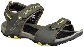 Duke Men Olive And Yellow Stylish Sandals