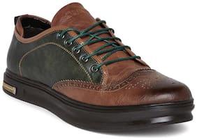 Duke Mens Brown & Green Casual Shoes