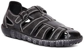 Duke Mens Grey Synthetic Leather Stylish Sandals