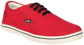 Duke Mens Red Canvas