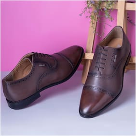 Men Brown Oxford Formal Shoes
