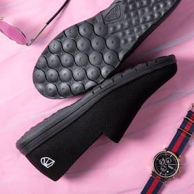 Duke Men Sports Shoes Walking Shoes ( Black )