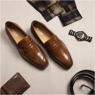 Duke Men Tan Loafers