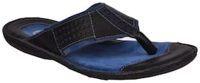 E Lyte men's thong EAT- 86058- Black slipper