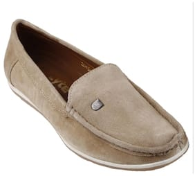 E-lyte men's slip-on shoes EAH-88081 Chickoo