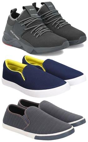 Earton Men Multi-Color Casual Shoes - COMBO(MR)-1657-1093-1018