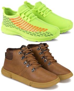 Earton Men Multi-Color Casual Shoes - COMBO(MR)-1735-1653