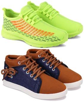 Earton Men Multi-Color Casual Shoes - COMBO(MR)-1735-678