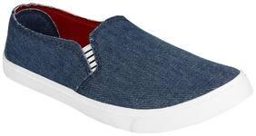 Earton Women Blue Canvas Loafers & Moccasins Shoes