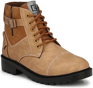 Eego Italy Men's Beige Ankle Boots