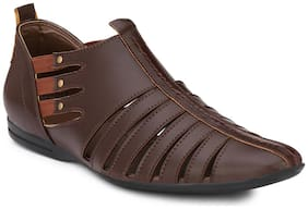 Eego Italy Synthetic Leather Men's Sandals