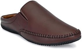 Men Shoe-Style Sandals ( Brown )