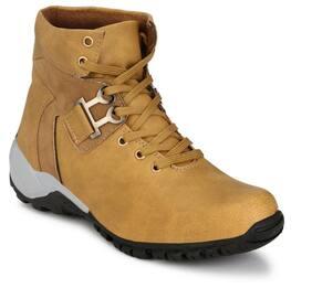 Elixir Man Men Khaki Ankle Boots - HIGH ANKLE