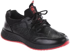 Men Black & Red Casual Shoes