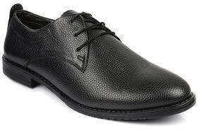 Escaro Men's Black Formal Derby Lace Up Dress Shoes