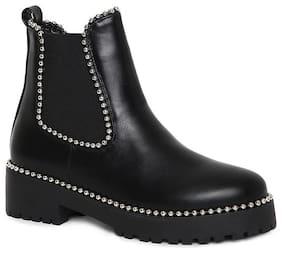 Estatos Women Black Ankle length Boots