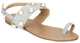 Estatos Women Grey Sandals