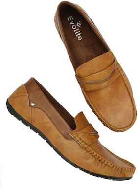 Evolite Tan Stylish Loafers for Men & Boys