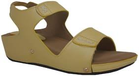 Exotique Women Green Heeled Sandals