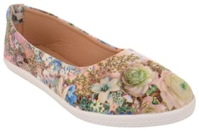 Exotique Women's Blue Multi Ballerina Shoe (EL0055BL)