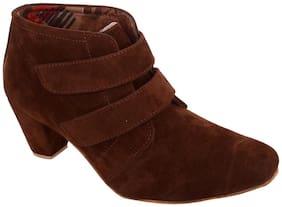 Exotique Women's Brown Boots(EL0031BR)