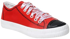 F-3 Women Red Sneakers