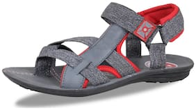 FABBMATE Men Red & Grey Sandals