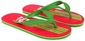 FABIONIX Men Green Flip-Flops -