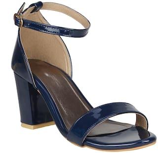 FANGIRL Women Blue Heeled Sandals