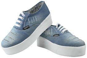 Fashimo Women Blue Denim Jeans casual shoes