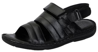 df8cbc72d527 Buy Fausto Black Men s Leather Sandals Online at Low Prices in India ...