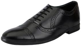 FAUSTO Black Men's Formal Brogue Shoe