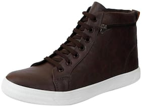 Fausto Brown Men's Ankle Casual Shoes