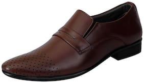 Fausto Brown Men's Formal Slip-ons