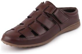 FAUSTO Men Brown Sandals