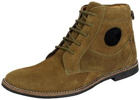 Men Green Ankle Boots
