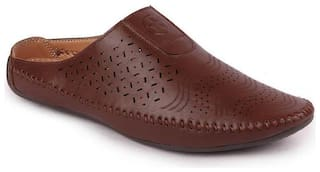 FAUSTO Men Brown Casual Shoes