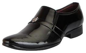 Fausto Men's Black Formal Slip On Shoes