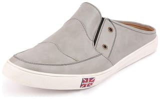 FAUSTO Men Grey Casual Shoes - FST 1261 GREY