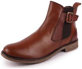 Men Tan Ankle Boots