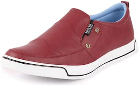 FAUSTO Men Red Casual Shoes