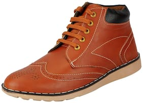 FAUSTO Men's Tan Chukka Boots