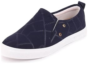 FAUSTO Women Navy Blue Loafers