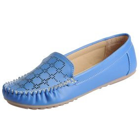 Fausto Women's Blue Stylish Loafers