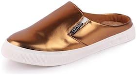 FAUSTO Women Bronze Casual Shoes