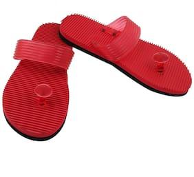 FEEL FEET Men Red Outdoor Slippers